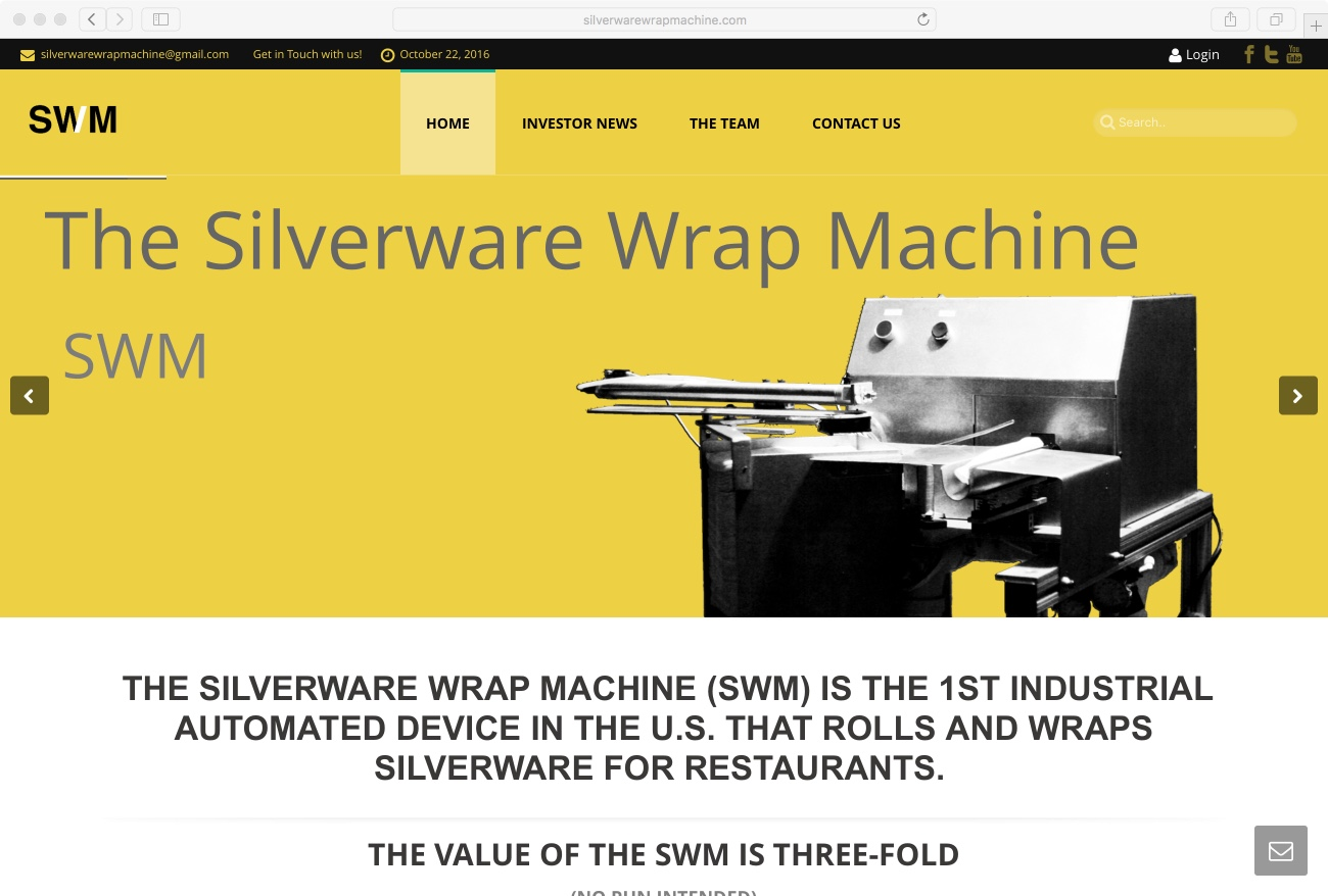 Silverware Wrap Machine Website
